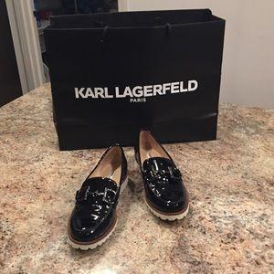 """Karl Lagerfeld - Patent """"Zaina"""" Loafers"""